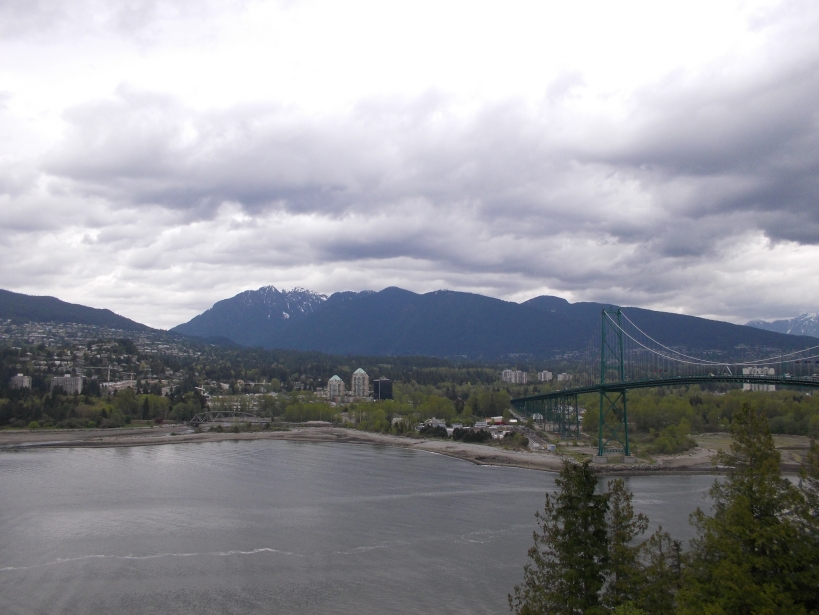 View from Prospect Point, Lion's Gate Bridge and Lions Mountains